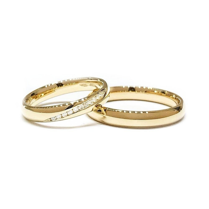 Yellow Gold Wedding Ring Mod. Confort mm. 3,5