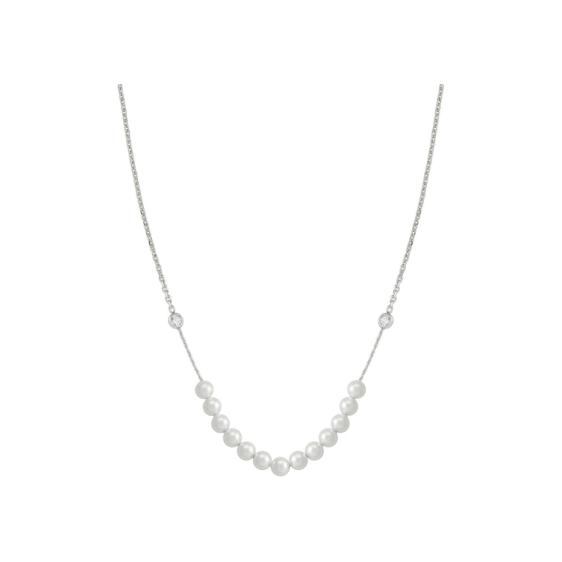 NOMINATION - 925 Silver Necklace with Cubic Zirconia and Pearls