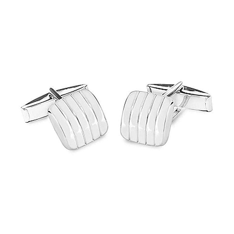 SILVER 925 MILL. SQUARE CUFFLINKS