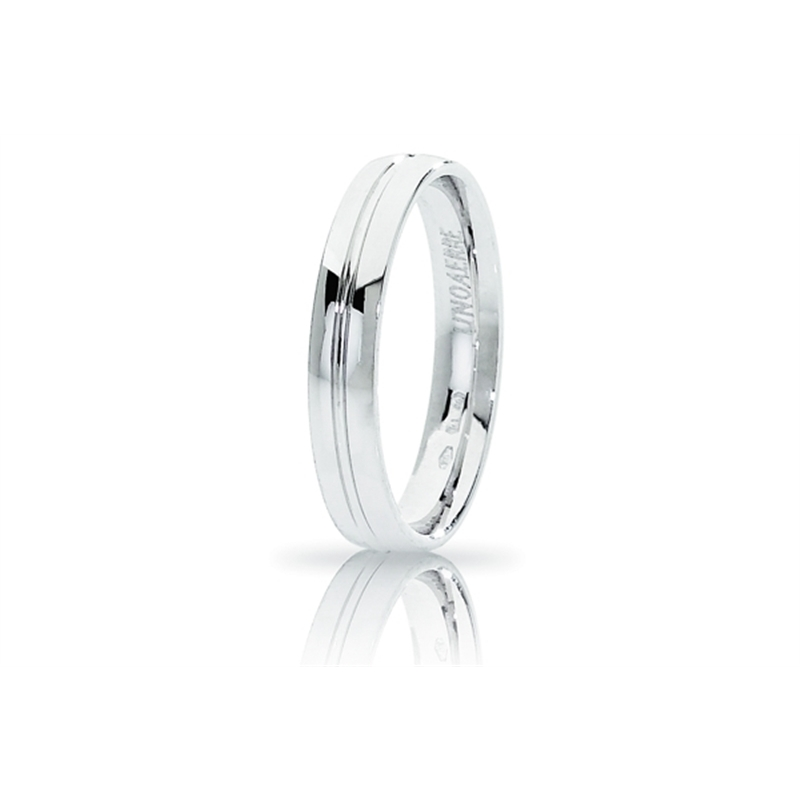 UNOAERRE Wedding Ring in 18k White Gold mod. Lyra