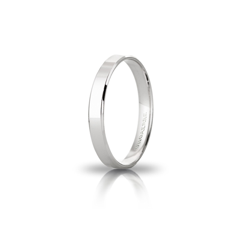 UNOAERRE 18Kt White Gold Engagement Ring mod. Gelsomino