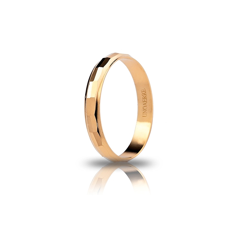 UNOAERRE 18Kt Yellow Gold Engagement Ring Mod. Viola